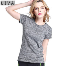 Breathable Short women T shirt 2017 Quick Dry Women T Shirt Short Sleeves Hygroscopic Fitness T-shirt For Women Top Clothes Tees(China)
