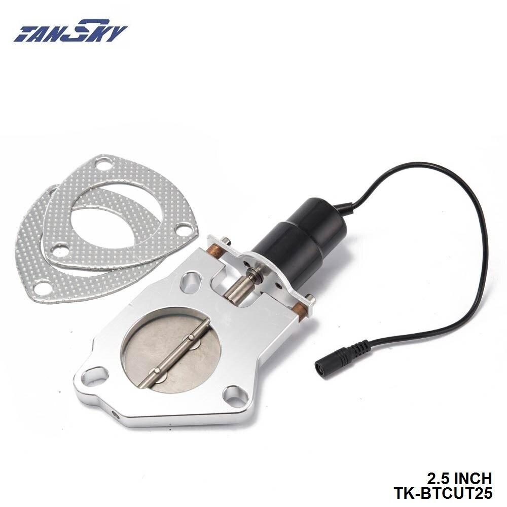 "TANSKY - 2.5"" Electric Exhaust Cutout Remote Control Motor Kit. For GM 6.6L LB7 Duramax Diesel TK-BTCUT25"