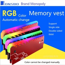 Desktop Memory  Heatsink Cooler Shell RGB 256 Color Automatic Change Aluminum Heat Sink RAM Cooling Vest  (China)