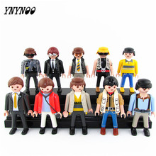 YNYNOO 10Pcs Playmobil Germany Original Action Figures Western Farm Fun Park 2016 Playmob Game Child Toy Models Collections Kids
