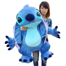 Real Pictures 35'' Jumbo Giant Stuffed Soft Plush Cute Stitch Toy 90cm, Nice Gift For Kids, Free Shipping(China)