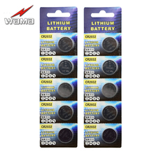 10pcs/2pack Wama Original CR2032 3V Button Cell Coin Batteries LIthium DL2032 EA2032C ECR2032 L14 Car Remote Battery New(China)