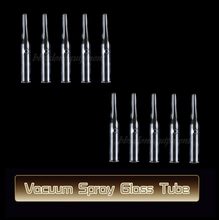 10 PCS Round Ventouse Glass Tube Attachment For Use With Vacuum Spray Facial Mchine