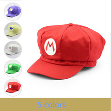 Super Mario Cotton Caps hat Red Mario and luigi cap 5 colors Anime Cosplay Halloween Costume Buckle Hats Adult Hats Caps(China)