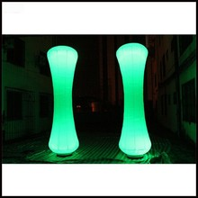 Free shipment 3m height 2016 hot sale inflatable led light pillar / party decoration inflatable cone with led light