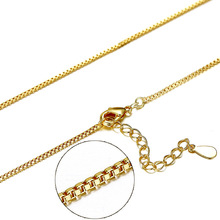 High Quality Gold Color Box Chain Necklace Single Strand  For Women