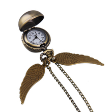 Vintage Classical Angel Wings Swings Round Ball Sweater Chain Pocket Watch Pendant Necklace Watch Special Hot!