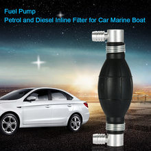 KKmoon Fuel Bulb Hand Pump Petrol and Diesel Inline Filter for Car Marine Boat