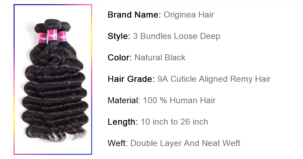 Hair extension weave beazilian hair extension weave hair extension weave natural color hair extension weave suppliers Originea Brazilian Loose Deep Wave 3 Bundle Remy Human Hair Extension Weave Natural Color Free Shipping