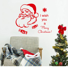 Christmas Wall Decal Quote I Wish You a Merry Christmas Decal Holiday Santa Claus Vinyl Wall Stickers Living Room 686MX