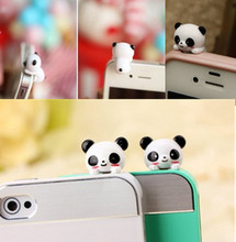 New 2016 1pc Cell Phone Panda Type Anti-Dust Plug Earphone Dustproof Cover Stopper Cap
