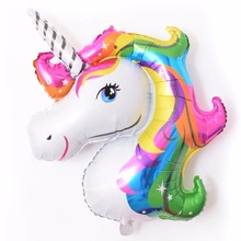 Creative Large Size 87*117cm Balloons Happy Birthday Fly Horse Large Toys Inflatable Animal Foil Balloons Unicorn Party W1373