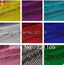 High Quality 5Yard/Lot 6MM African Sequin Embroidery Mesh Fabric Material Textile For Sewing Dance Cloth Wedding Backdrop Diy(China)