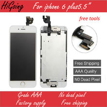 For iPhone 6 Plus Full LCD Screen Display Touch Digitizer Full Assembly Replacement Home Button Camera Speaker for iPhone 6 Plus