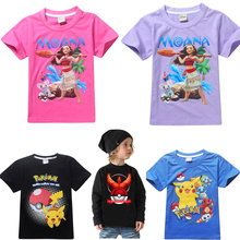 2017 new summer spiderman Kids The Good Luck Trolls short sleeves Tees Clothing Children T Shirts moana Youth Boys Girls T-Shirt