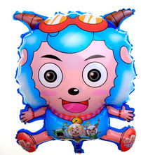 Action Figure Foil Helium Balloons Weslie Pleasant Goat 61cm PVC Party Wedding Drop Inflatable cartoon doll Decoration Anime(China)