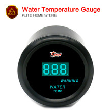 "52mm 2"" Black Car Motor Digital Blue LED Water Temp Temperature LED Gauge Sensor(China)"