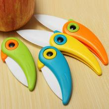 Mini Bird Ceramic Knife Gift Knife Pocket Ceramic Folding Knives Kitchen Fruit Paring Knife With Colourful ABS Handle 2017