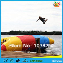 Free Shipping lowest price Inflatable Water Pillow Water Blob Jump for sale with free CE/UL pump and repair kit(China)