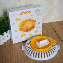 1pc Microwave Oven Baked Potato Chips Microwave Cooker Potato Maker DIY Bake Homemade Potato Slicers Baking Tools(China)