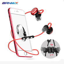 X9 Magnetic Earphone earplugs Wireless Sport Bluetooth Stereo Headset Sweatproof Mic for xiaomi HTC calls earbuds AptX APP fone(China)