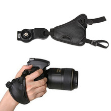 Faux Leather Camera Hand Wrist Strap Belt 1/4 Screw Mount Base Canon Nikon Sony Pentax Olympus Panasonic Fujifilm DSLR