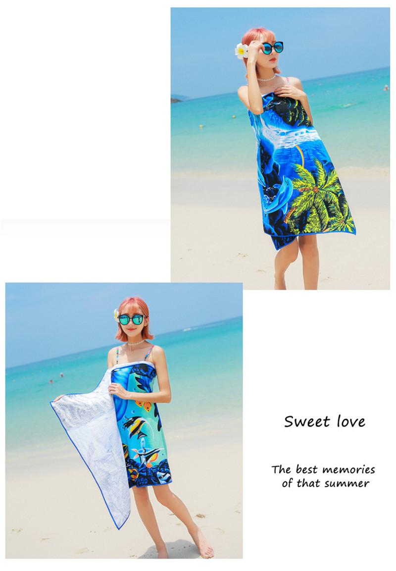 Micro Fiber Printed Beach Towel 140*70cm 40