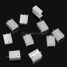 10Pcs Aluminum Heatsink Transistor Radiator With Needle For Transistors TO-220 -R179 Drop Shipping