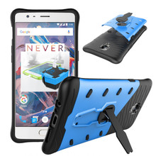 For One Plus 3T Phone Case Shock proof 360 swivel bracket For OnePlus 3 T Phone shell Netted heat dissipation Armor Phone Cover