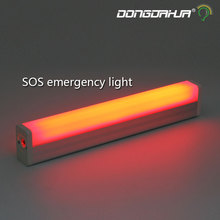 usb portable SOS led tube light load mode signal lamp rechargeable lights emergency lights camping outdoor adjustable brightness(China)