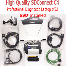 Multi-language Auto Diagnostic Tool MB SD Connect C4 with MB Star C4 Newest Software Vediamo V5.01 for CF52 Laptop Ready to Use(China)