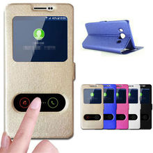 ZEALLION For Samsung Note 3 4 5 G530 G360 On 5 7 J1 Ace J1 Mini Silk Skin Wallet Window Flip Stand PU Leather Cases Cover