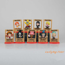 Action Figure One Piece Wanted 1/14 scale painted figure Q Ver one piece wanted one pack of nine figure Doll Anime(China)
