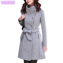 Large size clothes Women cashmere coat Fashion Ladies winter coat Thickening Long sleeves windbreaker   lady coat A80 YAGENZ