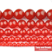 "Free Shipping Red Carnelian Agate Round Gem Beads 15"" Strand 4 6 8 10 12MM Pick Size For Jewelry Making No.SAB8"