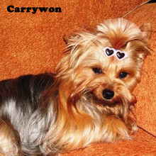 Carrywon Pets Lovely Decoration Hair Bows 2pcs/pair Hairpin Accessories Heart Shape Glasses Bobby Pin Pet Accessories Products