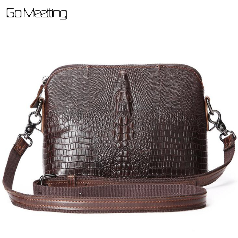 Fashion Brand Vintage Luxury Alligator Genuine Cow Leather Shoulder Bag Womens Handbag Casual Bag Crossbody Messenger Bag<br>