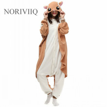 noriviiq cosplay flying squirrel costume for adult pyjamas unisex fanncy dress polar fleece men lady halloween party show