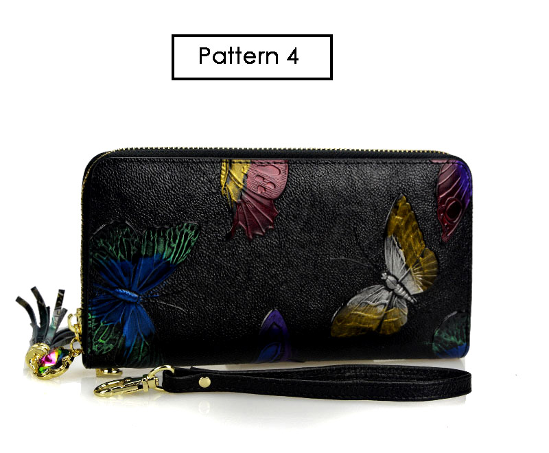 Dreamlizer Animals Printing Pattern Genuine Leather Women Wallets 15