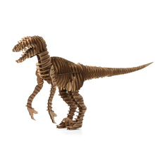 3d Puzzle Dinosaur DIY Raptor Model Paper Craft Kids Cardboard Animal Toys Velociraptor Cool Christmas Best Gifts for Birthday