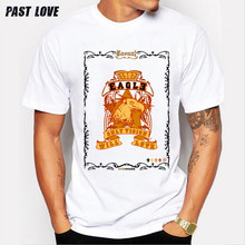 Past Love Brand eagle Print style T-shirt for men, with short sleeves,Cotton white fashion Tees Pendants for men 2017 new