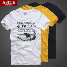 Hot sell 2016 New fashion Famous brand hollistic t shirt men 100 % cotton abercr for ombi men T-shirt,summer style t-shirt(China)