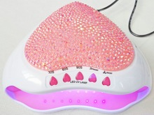 Heart shape 5W USB/Battery/Adapter Led UV Light Curing Lamp Nail Gel Drying Polish led lamp nail GEL curing mini dryer 3colors(China)