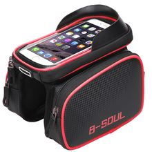 B-SOUL 6.2 Inch Waterproof Bike Touch Screen Bag Front Frame Top Cell Phone TPU Cycle Bag MTB Road Mountain Bicycle Accessories(China)