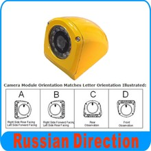 IR Waterproof Side view Camera For School Bus 2 Car Camera Kit