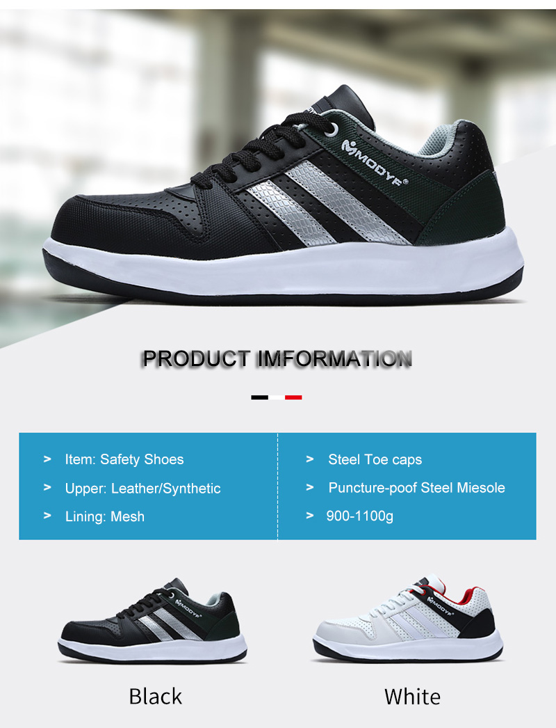 Modyf Men Safety Shoes Steel Toe Work Shoes Flats Casual Protective Footwear 2