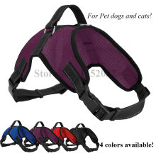 Free shipping Service Dog Soft Mesh Vest Pet Dog Harness to dog collar and leash Pet products Dog clothes purple color(China)