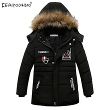 KEAIYOUHUO New Winter Jackets Boys Cotton Children Coats Boys Clothes Long Sleeve Kids Outerwear 3 4 5 Years Kids Coats