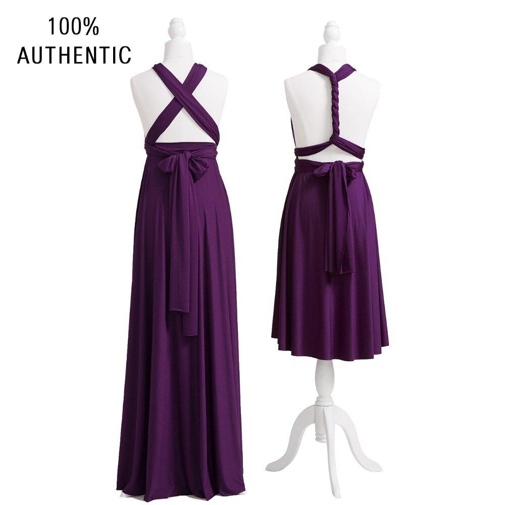 Dark Purple Bridesmaid Dress Multiway Long Dress Plus Size Maxi ...