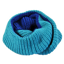 Knitted scarves women Pure neck Woolen Scarf Autumn Winter Scarf Women Warm shawls 2 Circle Cable Knit Long Ring Scarf 3133(China)
